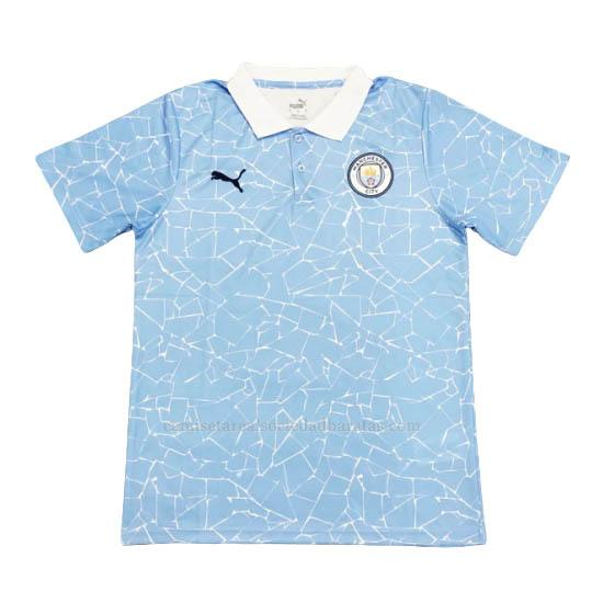 2020-21 camiseta polo manchester city azul