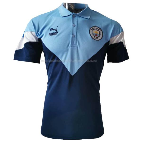 2020 camiseta polo manchester city azul